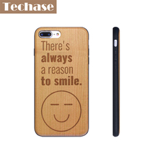 Techase Ultra-thin Phone Cases For iPhone 5/5s/se Solid Wood Design Hard Back Cover For iPhone iPhone 7/7plus Case Laser Engrave