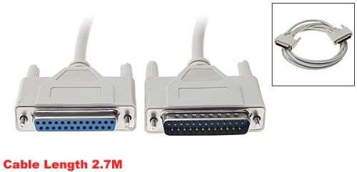DSHA New Hot Male to Female 25 Pin Parallel DB25 Printer Cable 2.7M<br><br>Aliexpress