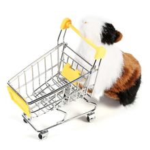 Pet Toy Mini Shopping Carts Toy Cart Simulation Miniature Shopping Cart  Storage Pretend Play Toys Handcart Toy Baby Trolley
