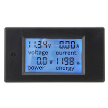 DC 20A LCD Combo Meter Voltage Current KWh Watt Car Battery Pannel Power Monitor High Quality SKU372688