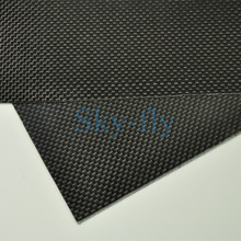 1sheet 0.3mm 100% Carbon Fiber plate panel sheet 3K plain Weave Glossy Hot Multi-size(China)