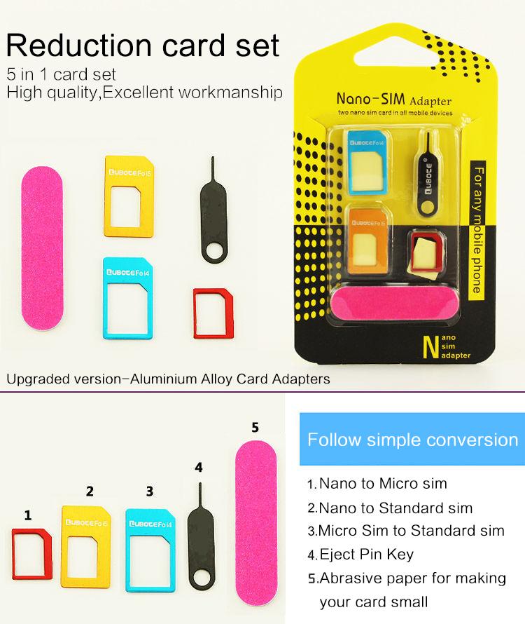 5-in-1-Nano-Sim-Card-Adapters-Regular-Micro-Sim-Standard-SIM-Card-Tools-For-iPhone