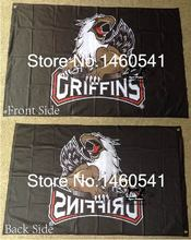 Grand Rapids Griffins Flag 3ft x 5ft Polyester American Hockey League AHL Banner Size 4 144* 96cm QingQing Flag