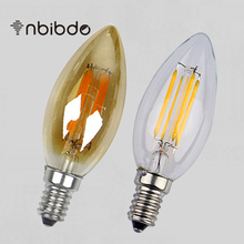 Amber Clear LED Candle Bulb E14 Energy Saving Lamp 220V 2W 4W 6W Vintage Edison Filament Light Replace Incandescent bulb Lampade