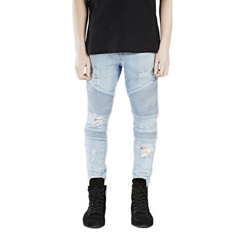 2017 Kanye West Justin Bieber Fear Of God Men Jeans Washed Ripped Casual Jeans Street Style Side Zipper Fashion Man Brand JeansОдежда и ак�е��уары<br><br><br>Aliexpress
