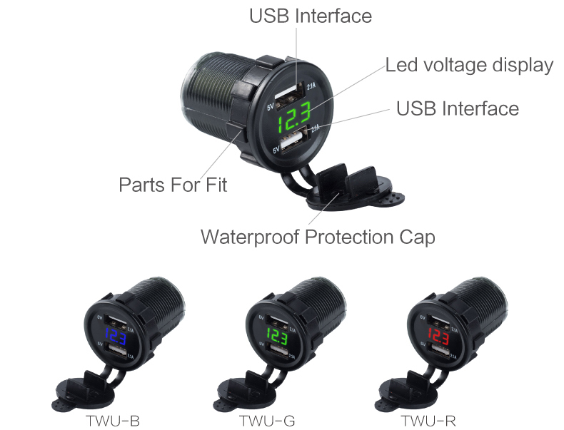 usb car charger with voltage 12