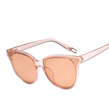 HEPIDEM 2017 New Big Clear Frame Oversized Sunglasses Women Brand Designer Cheap China Mirror Pink Blue Lens Cat Eye Sun Glasses