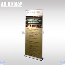 80*200cm Premium Wide Base Aluminum Roll Up Retractable Banner Display,Tradeshow Durable Advertising Stand,Exhibition Equipment