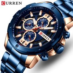 Мужские часы Curren Лидирующий бренд из нержавеющей стали мужские s часы хронограф кварцевые часы мужские спортивные часы Relogio Masculino Reloj Hombr
