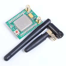 A7 GPRS GPS GSM Module SMS Voice Development Board 3.3-4.2V Support 850/900/1800/1900MHz Minimum System Board + Antenna * 2