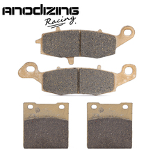 Motorcycle Front and Rear Brake Pads For Suzuki GS500F GS500 2004-2014(China)