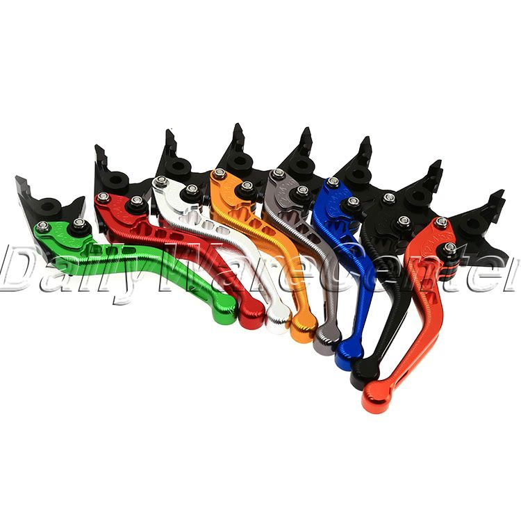 2016 Brake Clutch Levers for Kawasaki ZX1400 ZX14R ZZR1400 2006-2015 CNC 3D Short Motorbike Brake Motorcycle Adjustable Levers<br>