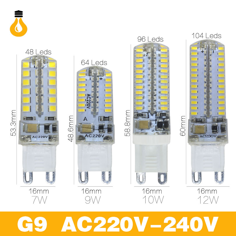 Lowest price g4 g9 LED Bulb SMD 2835 3014 LED G4 G9 LED lamp 3W 7W 9W 10W 12W led Corn Light DC12V AC220V Replace Halogen Lamp(China)