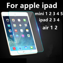 Tempered Glass For ipad 2 3 4 Screen Protector HD Explosion Proof For apple Mini 1 2 3 4 Air 1 2 Toughened Protective Film