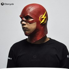 The Flash Mask DC Movie Cosplay Costume Prop Halloween Full Head Latex Party Masks(China)