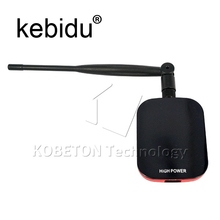 Kebidu High Power 150Mbps Usb 3.0 Wifi Adapter Network Card Blueway N9000 IEEE802.11b/g/n 58dBi Long Range Attenna with clips(China)