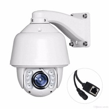 Support blue IRis software 20X Zoom FULL HD 1080P ptz ip camera high speed dome auto tracking with OSD menu security system(China)