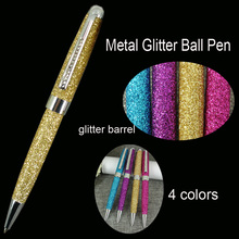 MB Ballpoint Pen with Crystal for Lady Birthday Gifts School Students Writing Instruments Attractive Fashion Glitter Ball Pens