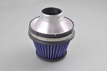 "For 3"" Spiral Tapered Cone Universal Style High Flow Dry Air Intake Blue Filter[QPL124]"