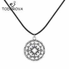 Todorova Valkyrie Slavic Jewelry Women Necklace Pendant Accessories Slavic Symbol Necklace with Charms Punk Statement Necklace