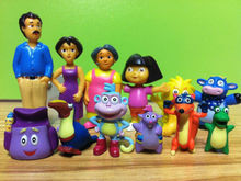 NEW Dora The Explorer Figure Set Toy Playset Cake Topper Figurines of 12 pcs