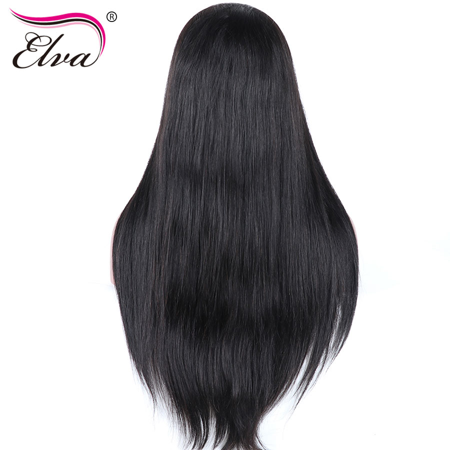Elva Hair Pre Plucked Silk Base Lace Front Human Hair Wigs For Black Women Glueless Straight Brazilian Remy Hair With Baby Hair