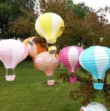 "12"" 30 cm Multicolor Hot Air Balloon Paper Lantern Wishing Lanterns for Birthday Wedding Party Decor Gift Free Shipping"