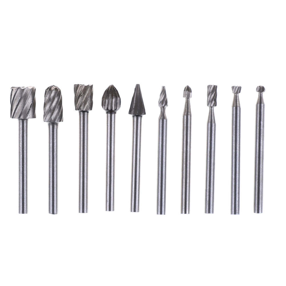 8PCS Tungsten Head Carbide Burrs Rotary Drill Die Grinder Carving Bits Tool Set