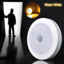 Rechargeable PIR Motion Sensor / USB Rechargeable Wireless LED Night Light Lamp 5LED / 6LED Closet Light Hallway Magnetic Strip