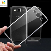 For Galaxy S3 Soft Silicon Case for Samsung Galaxy S3 S 3 i9300 Clear Transparent Mobile Phone Bag Back Cover Protective Cases