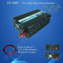 500w solar inverter 12v/220v 500w pure sine inverter 24v/120v 500w power inverter