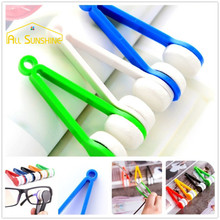 2pcs/lot Random Color Glasses Cleaner Microfiber Spectacles Sunglasses Eyeglass Clean Wipe Tools Mirror Cleaning Cloths Sweep(China)