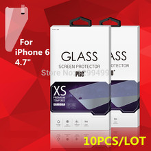 "Wholesale 10Pcs/Lot Tempered Glass Film Screen Guard for iPhone 5 5S SE 6 6S / 7 4.7"" / iPhone7 Plus With Nice retail Package(China)"