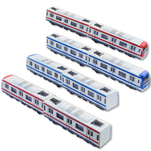 1:300 scale simulation diecast train city metro model Magnetic connection alloy toys with pull back for kids gifts decoration(China)