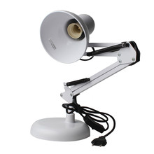 White Adjustable Swing Arm Drafting Design Office Studio Clamp Table Desk Lamp Light(China)
