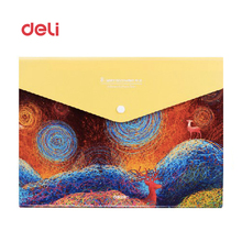 Deli A4 multi-function business office file folder business document folder bags clip/signing contract carpetas pasta escolar(China)