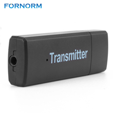 FORNORM 2.4GHz Blutooth Wireless Transmitter For Car Music Audio Bluetooth Receiver Adapter 3.5mm A2DP For Headphone Reciever(China)