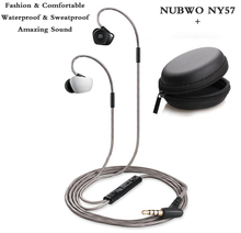 Sport headset NY57 Bass headphones Waterproof earphone with mic for iPhone 6 5S samsung xiaomi mi mix huawei sony oppo phone mp3