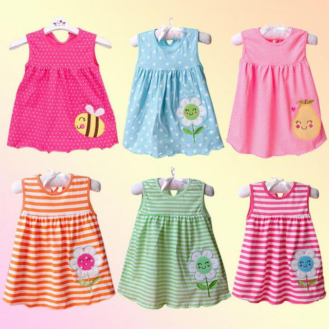 20 Design Newborn Baby S Summer Dress Sleeveless Dresses Cotton New Born Clothing Robe