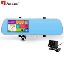 "New 5"" Car GPS Navigation Android Rearview mirror DVR Video recorder Camera Dash Cam Truck vehicle gps navigatie free map"