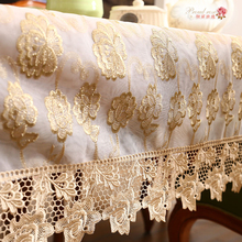1 Piece New Style Golden Rose Lace Table Cloth/ European Hollow Out Embroidered Tablecloth/ Fashion Lace Decorate Table Cloth