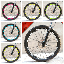 Buy 26 inch New Mountain Bike bicycle two Wheels Set Rim Stickers 2017 XT 776 MTB Cycling Race Dirt Decals free for $8.44 in AliExpress store