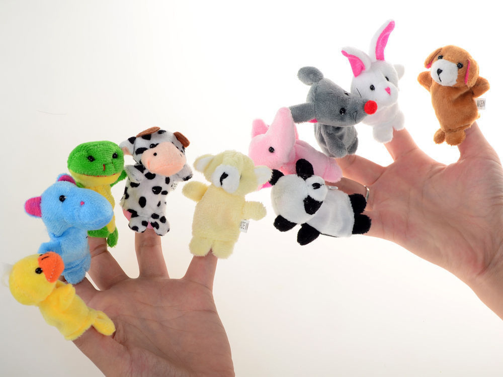 10 Pcs Family Finger Puppets Cloth Doll Baby Educational Hand Cartoon Animal Toy<br><br>Aliexpress