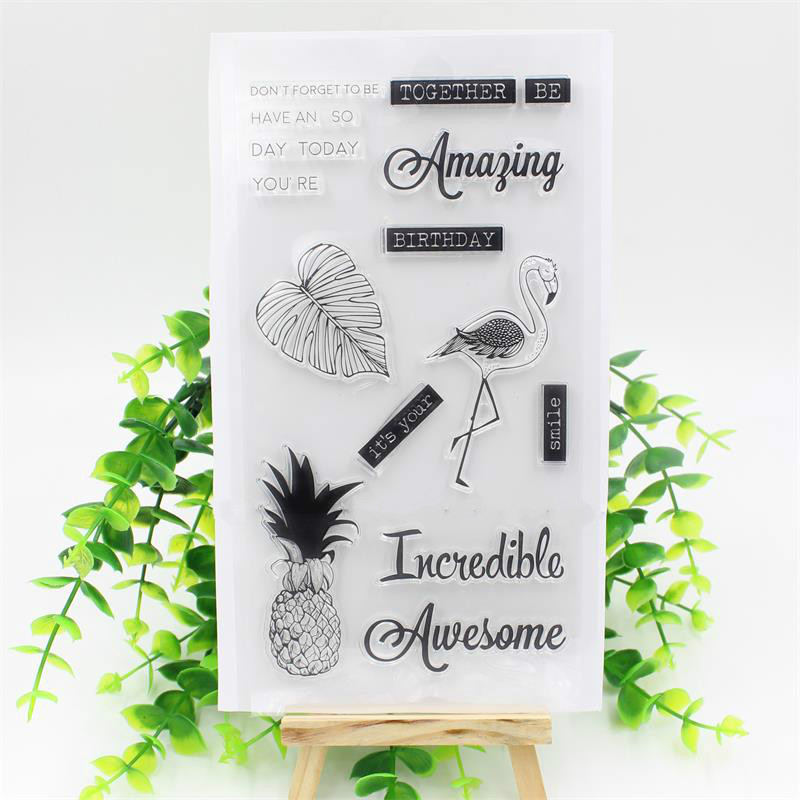 It Your Birthday Transparent Clear Silicone Stamp/Seal for DIY scrapbooking/photo album Decorative clear stamp sheets<br><br>Aliexpress