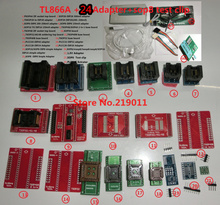 100% ORIGINAL V6.5 TL866A programmer +24 adapters +IC clip High speed TL866 AVR PIC Bios 51 MCU Flash EPROM Programmer(China)