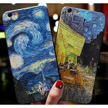 PKR 148.92  15%OFF | 3D Relief Van Gogh Phone Case For iPhone 7 Plus 8 6 6S X Soft Silicone Cover For iPhone 5 5S SE XS XR MAX 7plus Starry Sky Cases