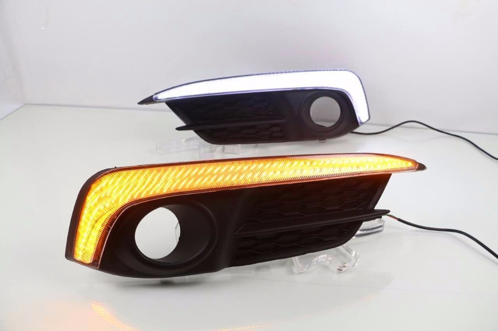 Osmrk led drl daytime running light for Honda Civic 10th 2016, with yellow turn signals, wireless switch control, top quality<br><br>Aliexpress