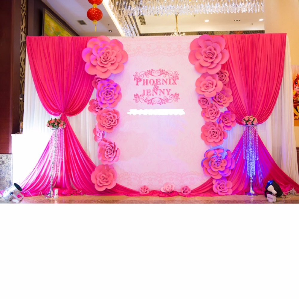 21pcs Different Sizes Combination Giant Foam Paper Rose Flowers For