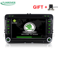 Top Fashion 2 Din Car Dvd Player Android 6.0 Quad Core Passat B6 For Vw For Skoda Polo Golf Cc Radio Gps Navigator Stereo(China)