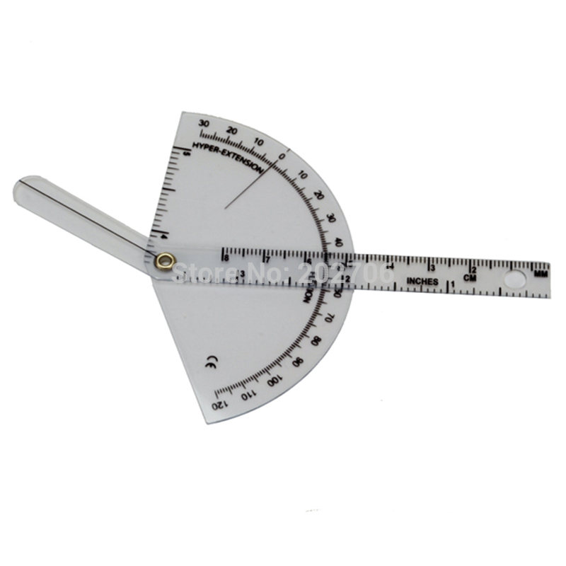 "8/"" DEGREE PROTRACTOR STAINLESS STEEL w// 200mm RULE model 5001 0-180deg"